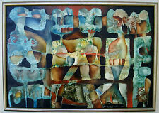 BERNHARD SVENDSEN 1915-1999 - ABSTRACT OIL ON BOARD -SIGNED & DATED 1971 -UNIQUE