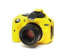 Camera silicone cover for Nikon D5300 Yellow + LCD Screen Protector
