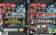 History Of State Of ORIGIN 1980-2007 + Heroes & Villains of NSW & QLD (5 Disc)