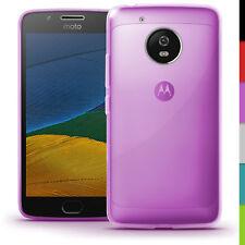 Glossy TPU Gel Case Skin for Motorola Moto G5 Bumper Soft Cover Screen Protector