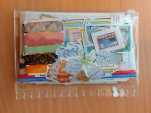 Mystery Junk Journal Bundle Scrapbooking Washi Tape Samples Ephemera LOT 65