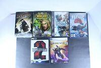 CD Rom PC Games Mixed Genre Various Titles Mixed Lot of 6
