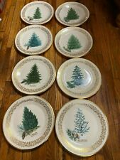 Complete set of 8 Lenox Commemorative Christmas Tree Plates-1976-1983. .mb/tr.