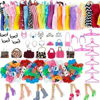 Set 32 For Barbie Doll Party Dress Outfit Glasses Shoes Clothes And Accessories