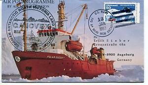 1993 POLAROGRAMME Polar Queen GANOVEX North Victoria Land Antarctic Cover