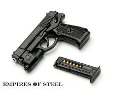 US Plastic Mini Pistol for 1/6 Soldier Figure Semi-automatic Gun Model Decor Toy