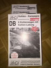 M&D Sonderserie Klein Modellbahn 101//95 DB 6x Kohlenwagen m. Ladung Topzustand