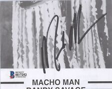 WWF WWE TitanSports Signed MACHO MAN RANDY SAVAGE 4x5 Photo w/ Beckett COA