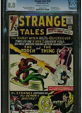 STRANGE TALES 128 CGC 8.0 1965 EARLY QUICKSILVER & SCARLET WITCH APPEARANCE OWTW