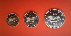EURO IRLANDE 2004 Pièces NEUVES de 1 , 2 et 5 ctes