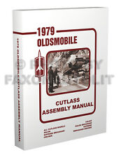 1979 Olds Cutlass Assembly Manual Oldsmobile 442 Supreme Calais Salon