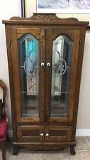 Small mirror back Ok display cabinet with leaded Lot 141