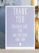 Thank You Teachers Like You Are Precious And Few Card G (Teacher Thankyou Cards)