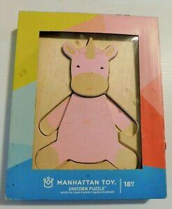Manhattan Toys Unicorn Wood Puzzle, 5 piece