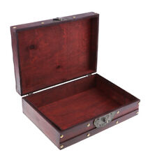 Stylish Vintage Chest Jewelry Storage Box Handmade Wooden Treasure Case Gift
