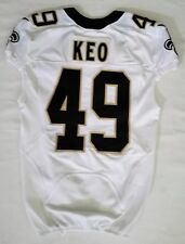 #49 Shiloh Keo Authentic Nike Game Issued Jersey from New Orleans Saints