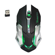 Rechargeable Wireless 2400DPI Gaming Mouse 2.4G Battery Gamer 6 Buttons Mice Pro