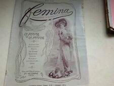 """ANCIENNE REVUE """" FEMINA """" N° 6   ANNEE 1901"""
