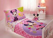 Toddler Bedding Set Girl Minnie Mouse 4 Pc Pink Kids Baby Crib Gift Nursery New