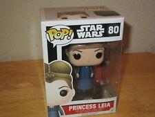 Star Wars Princess Leia: Funko Pop! x Vinyl Bobble-Head Figure w/ Stand #80 New