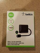 Belkin Usb Type-C to Vga Adapter for Laptops Tablets Phones (F2Cu037Btblk)
