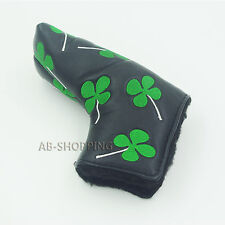 New Shamrock Clover Golf Putter Club Cover Headcover for Scotty Cameron Ping(Blk