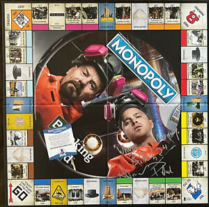 AARON PAUL Signed with rare Quote Breaking Bad Monopoly Beckett BAS only 9 exist