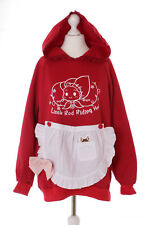 Ts-122 cappuccetto rosso Red Riding Hood Grembiule PASTEL Pullover Felpa kawaii