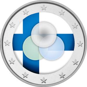 2 Euro Gedenkmünze mit Finnland 2019 Verfassung coloriert m. Farbe / Farbmünze A