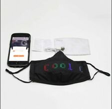 LED Programmable Customizable Bluetooth Face Mask Sign USB Recharge US FAST SHIP