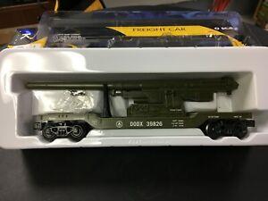 K-LINE GREEN US ARMY FLAT CAR WITH MILITARY CANNON O 027 K662-8011 LNIB