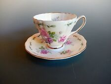 Royal Vale Ridgeway Potteries Pink Roses Cup and Saucer Set Vintage