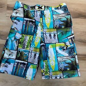Ocean Pacific OP Boys Large Swim Trunks Lined 10-12 Board Shorts