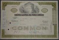 USA: Virginia Electric and Power Company 1974 1000 shares