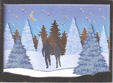 Papyrus Christmas Card Nip Msrp $9.95 Winter Couple Card (G4)