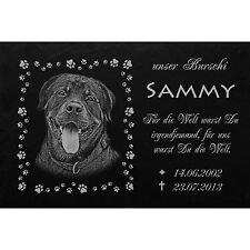 Grabplatte Grabmal Grabstein Tiergrabstein Hund-046 ►Text + Foto Gravur ◄60x30cm