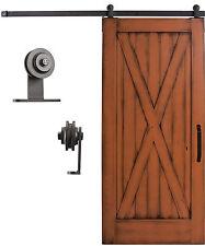 Sliding Cabinet/Barn Door Hardware Kit 6.6 feet Steel Track Top Mount Roller omt