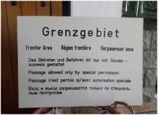 Cold war Berlin East German Frontier Area Border Sign 1988 Region frontiere RDA