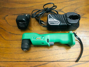 Hitachi Cordless Right Angle Drill Ni-Mh with Battery and Genuine Charger NICE!!