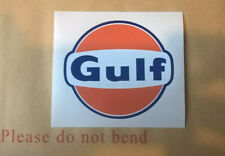 Gulf Motor Racing Decal Stickers Various Sizes Cut To Shape Weatherproof