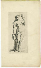 Antique Print-NUDE-NAKED WOMAN-BEAUTY-SCHOONHEYT-Houbraken-c. 1710