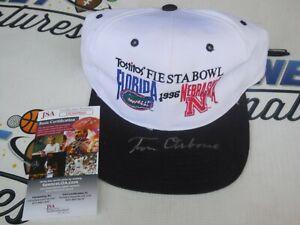 Tom Osborne signed 1996 Fiesta Bowl hat Nebraska Cornhuskers JSA COA