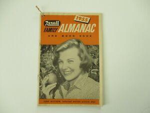 1955 REXALL FAMILY ALMANAC & MOON BOOK June Allyson Lancaster Ohio
