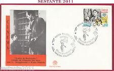 ITALIA FDC FILAGRANO CINEMA VITTORIO DE SICA LADRI BICICLETTE 1988 ROMA Z392