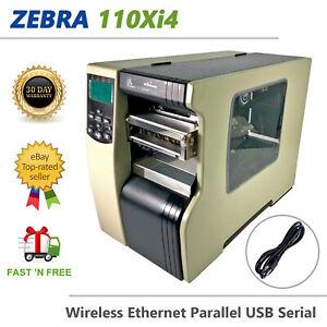 Zebra 110Xi4 Thermal Transfer Label Printer Wireless LAN Cutter UPS Frmw