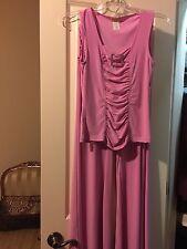 Vizio Pink Tank Cami Top & Pants Suit Set SZ Large