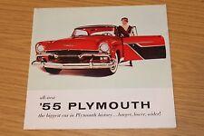 Carpeta de ventas de color de rango de Plymouth 1955