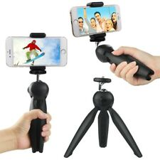 Mini Tripod For Gopro Smartphone Compact Camera & DSLR W/ Phone Mount Black