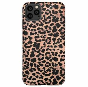 For iPhone 12 11 X 8 7 SE - Leopard Print Pattern Soft Rubber Case Cover