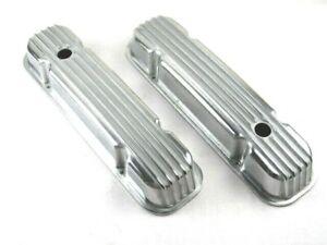 Pontiac 350 400 455 Finned Tall Aluminum Valve Covers Polished E41271P